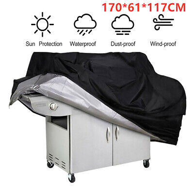170CM BBQ Cover Heavy Duty Waterproof Rain Snow Barbeque Grill Protector Gas