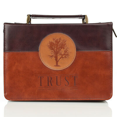 Trust in Two-tone Jeremiah 17:7 Bible Cover, Size Large
