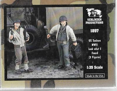 Verlinden WWII US Tankers, Happy! Look What I Found!, 2 Resin Figs 1/35 1897  ST