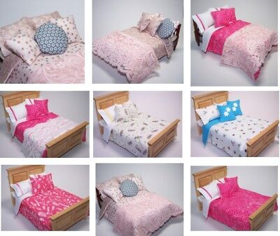 Dolls House Bedding Set -1/12 Handmade-Double Bed size-Group 6/ ALL NEW 16.1.19