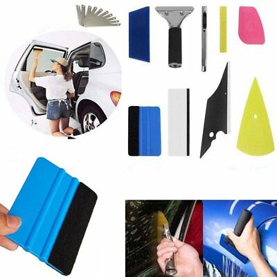 8Pcs Car Window Tinting Auto Film Install Wrapping Applicator Tools Squeegee Kit