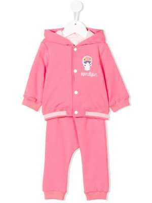 d2eb03f72 NWT NEW Fendi baby girls pink fleece mushroom 2pc tracksuit set 3m