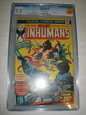 Marvel Comics Inhumans # 1 CGC 7.5