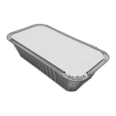 Aluminium Foil Hot Food Containers Box With Lids 6A. Perfect For Takeaway, Home
