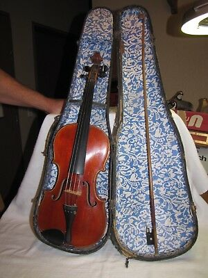 Antique OIe Bull 4/4 Violin with Chiara Bow and Case