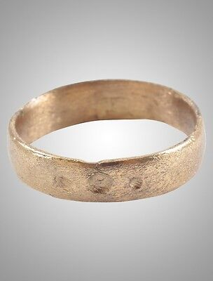 Ancient Viking Wedding Band Jewelry C.866-1067A.D. Size 8 1/2 (19mm)(Brr1111)