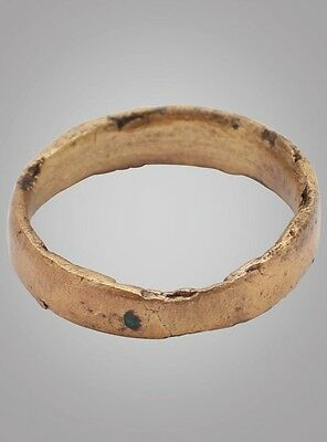 Ancient Viking Wedding Band Jewelry C.866-1067A.D. Size 5 (15.8mm)(BRR716)