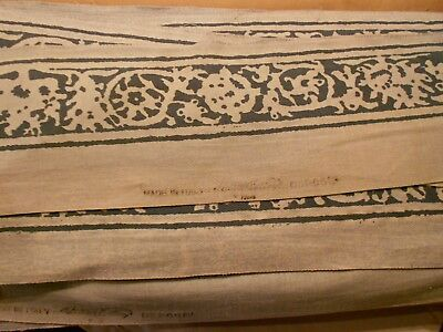 """Fortuny """"PERGOLESI"""" Fabric Border Signed 50 yards in 2 pieces Blue Wide Trim"""
