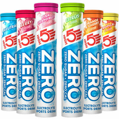 High 5 Zero Electrolyte Hydration Tabs x 4 Tubes 80 Tabs High5 Energy Tablets