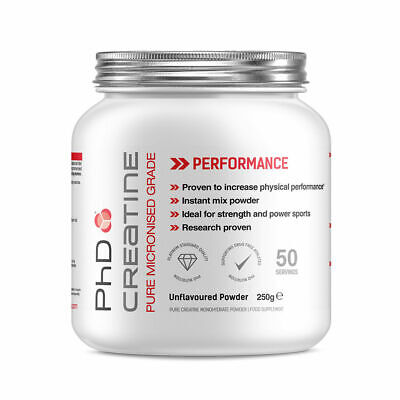 PhD Nutrition Creatine Monohydrate 250g Pure Micronised 100% Creatine powder