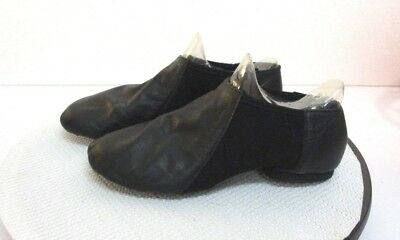 "Bloch Youth Women Size 11.5 Black Leather 10.5"" Dance Jazz  Hip Hop Shoes"