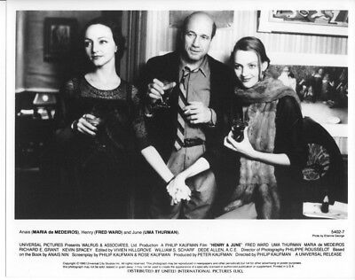 HENRY AND JUNE / UMA THURMAN / FRED WARD / 10x8 PRESS PHOTO ORIGINAL