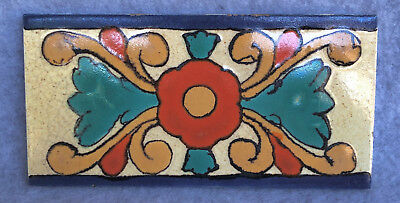 "Vintage CALCO (California Clay Products) 6"" x 3"" Persian style tile 1923-32 RARE"