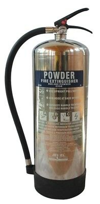 Fire Extinguisher Chrome Polished - Brand New - FREE DELIVERY - Meets UK Regs