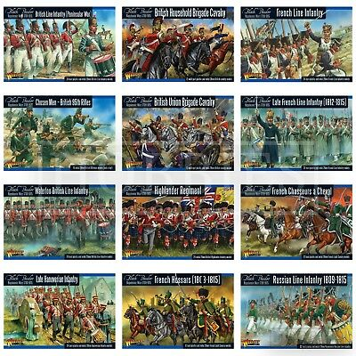 Warlord Black Powder Napoleonic Wars British French Russian Infantry Figures Set