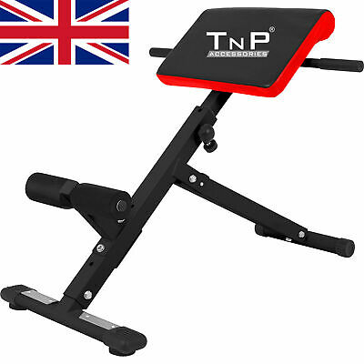 Adjustable Back Extension Bench Roman Chair Hyperextension Sit Up Abs Workout