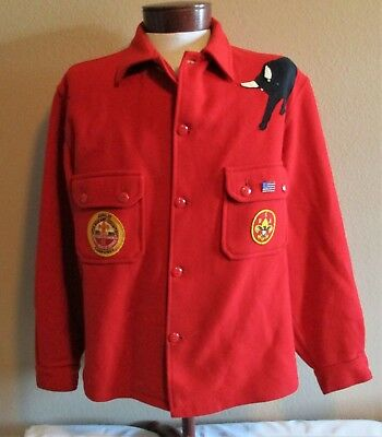 "Red Wool Official Boy Scout Jacket ""philmont"""