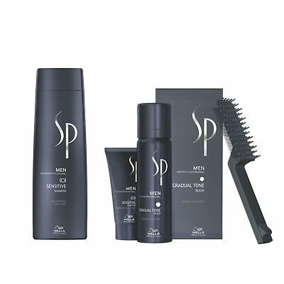 Wella System Professional Men Kit Sensitive Shampoo 250ml  Gradual Tone Black 60