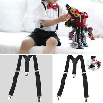Children Kids Boy Girls Clip-on Y-Back Suspenders Elastic Adjustable Braces US