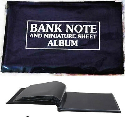 Premier Mini World Currency Paper Money Banknotes Album for 50+ notes