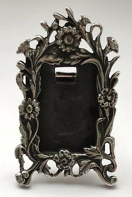 Solid Silver Art Nouveau Style Miniature Photo Frame