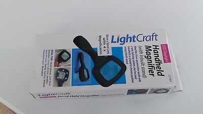 Lightcraft LED Hand-Held Magnifier with Inbuilt Stand