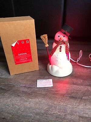 Vintage Chilly Sam Light-Up Snowman By Avon Original Box & Bulbs Works