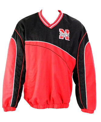 8b60274ef 58 Sports Nebraska Cornhuskers Mens XL Pullover Jacket Huskers Spellout Red