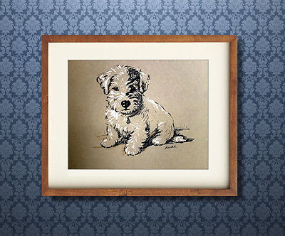 Lucy Dawson,Sealyham Terrier, Puppy, Terrier, Art, Dog Print
