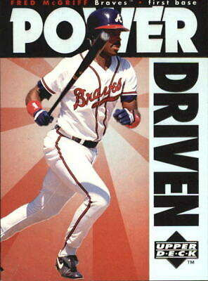 1996 Upper Deck Power Driven Atlanta Braves Baseball Card #PD9 Fred McGriff