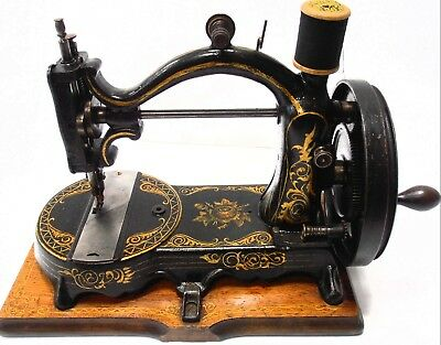 rare Antique FRENCH Sewing Machine unknown sign 19th century Nähmaschine