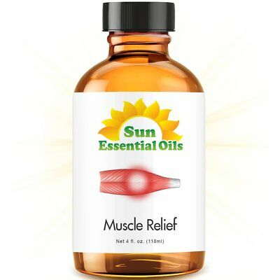 Best Deep Muscle Relief Essential Oil 100% Purely Natural Therapeutic Grade 4oz