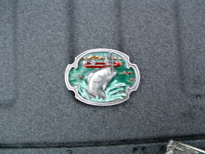 Large Mouth Bass Pewter Belt Buckle Made In Usa By The Siskiyou Buckle Co