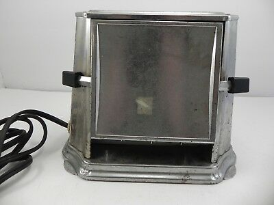 Antique Art Deco Electric Sun Chief Model #680 Sided Sliced Toaster Works