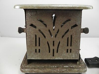 Antique Art Deco Electric Universal 2 Sided Sliced Toaster Works