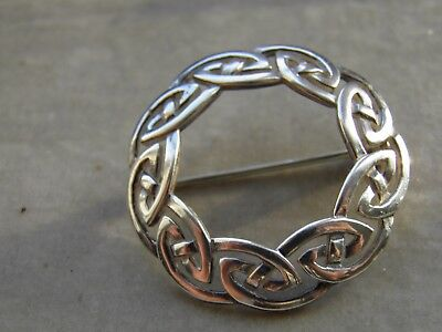 Sterling Silver Sea Gems Celtic Lovely Brooch