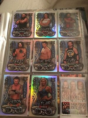 WWE Slam Attax Live Set Of 8 Silver Limited Edition Memorabilia Cards