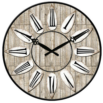 """Wooden Wall Clock 38cm 15"""" Vintage Antique Shabby Home Decor Christmas Xmas Gift"""
