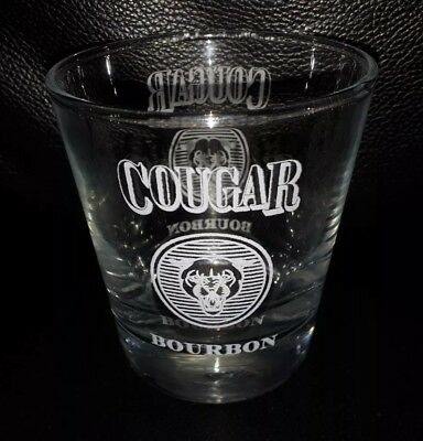 Rare Collectable Cougar Bourbon Spirit Glass In Great Used Condition