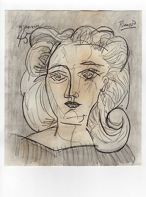 Pablo Picasso - Pencil Drawing