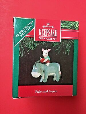 Hallmark 1991 Winnie The Pooh Piglet And Eeyore Ornament