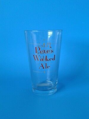 "Vintage Barware "" Pete's Wicked Ale Beer Glass / Cup "" Man Cave Breweriana"