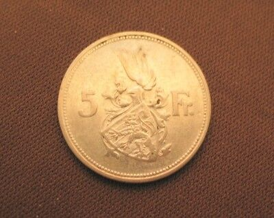 LUXEMBOURG 5 FRANCS 1929 SILVER coin