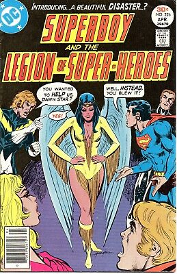 Superboy And The Legion Of Super-Heroes #226 (April 1977, DC) 1st Dawnstar