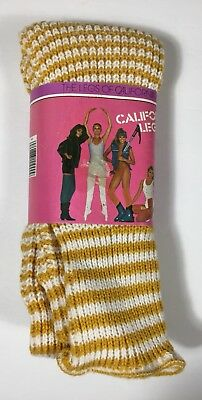 Vtg 80s California Legwarmers New In Package