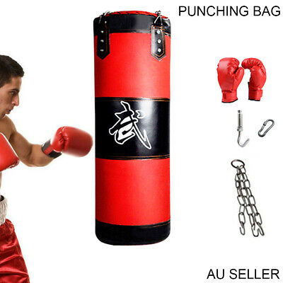 Heavy Duty 120cm Punching Boxing Bag Training Martial Arts Kicking Unfilled