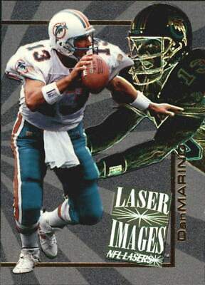 1996 Score Board Lasers Images Miami Dolphins Football Card #I15 Dan Marino