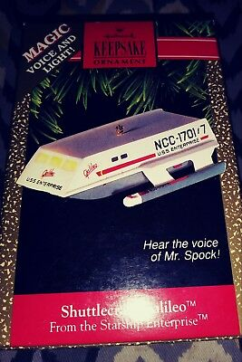 1992 Hallmark Star Trek Shuttlecrarft Galileo Ornament mint shape Collectable.
