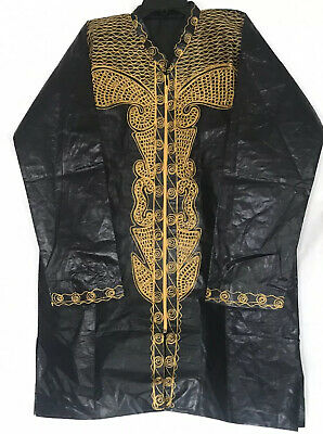 African Men's Pant Suit Brocade Embroidered 3 Piece Suits Ethnic Clothing Set