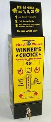 VINTAGE WINNER'S CHOICE 25 Cent Quarter Pull tab Lotto Lottery Gaming  Machine